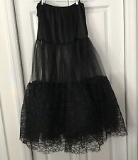 Lace&Tulle Petticoat (Black) SzL  **EUC**
