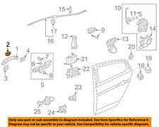 Acura HONDA OEM Lock Hardware-Rear Door-Handle, Outside Cap Right 72644SEPA01ZC