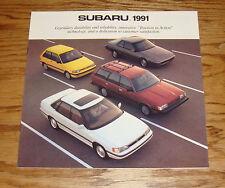 Original 1991 Subaru Full Line Sales Brochure 91 XT Legacy Loyale Justy