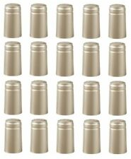SHRINK CAPSULES 100 MATT SILVER METALLIC PVC HEAT SHRINKS CAPS FOR WINE BOTTLES