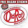 Old Rat sticker vw aircooled ratlook 100x75mm