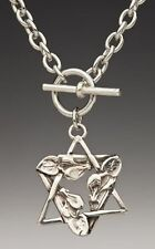 Blossom Star of David Toggle Necklace by Silver Spoon Jewelry- !