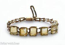 Rose Gold 30ct 5 Natural Citrine Antique Bracelet Vintage late 1800's