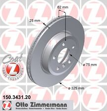 ZIMMERMANN 150.3431.20 FRONT BRAKE DISCS PAIR (COAT Z)