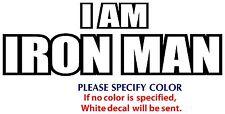 "I Am Iron Man Game Movie TV Funny JDM Vinyl Sticker Decal Car Window Wall 7"""