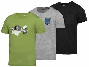 Herren Funktionsshirt Merino Wolle Merinoshirt Sportshirt Laufshirt T-Shirt