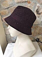 NWT J. Crew ESPRESSO BROWN Tweed Herringbone Wool Blend Bucket Hat S/M #61341
