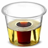 200 x Strong Disposable Plastic Jager Bomb Shot Glass (NON BBP) - 25ml CE Marked