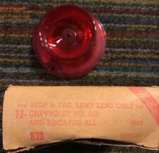 NOS 1963 Chevrolet Bel Air Biscayne Stop and Tail Light Lens 5954191