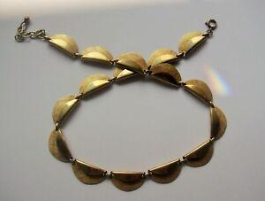 Vintage Collier - Golddouble - 40 - 45 cm - Gold Kette - matt und glänzend