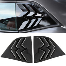Black Rear Window Louver Shutter Cover Accessories For Dodge Challenger 10-19