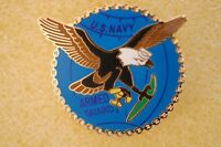 US USA USN Navy Armed Guard Military Hat Lapel Pin