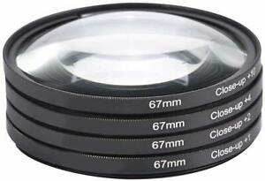 67mm Close-Up Filters Macro lens Set(+1,2,4,10)with Pouch for Digital SLR Camera