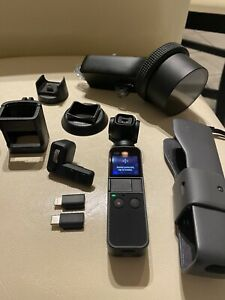 DJI Osmo Pocket 3-Axis Stabilizer and 4K Handheld Camera and Extra Accessories