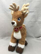 Dancer Medallion Christmas Reindeer Build A Bear Workshop Babw Plush Collar