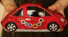 TIMMY WOODS VOLKSWAGEN CAR BEETLE RED BUG SWAROVSKI CRYSTAL SHOULDER CLUTCH BAG
