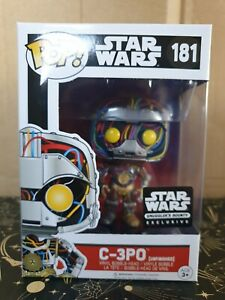 Funko Pop Vinyl - Star Wars #181 C-3PO Unfinished - new - Smuggler's Bounty Excl