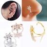 Crystal Flower Nose Ring Cartilage Ear Ring Stud Piercing Jewelry Hoop Tragus