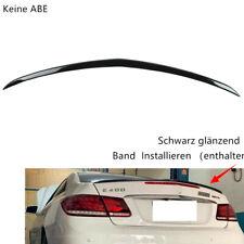 Heckspoiler Heckspoilerlippe Schwarz Glanz Für Mercedes-Benz C207 E-Klasse Coupe