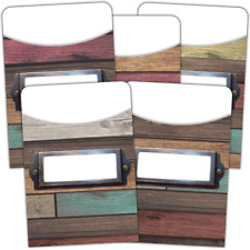 Home Sweet Classroom Library Pockets TCR8827 Rustic Classroom Decoration