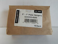 "10 Pack Plate Hangers 5""-7"" BRASS Wire Ends TOWER-SECURE No. 10004 GOOD #200 NOS"
