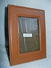 """Brown Leather Picture frame- 4""""H X 3""""W picture- velvet back"""