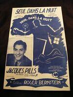 Partitur Seul IN La Nuit Jacques Pills Music Sheet