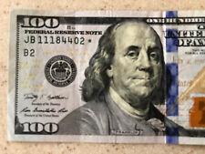 $100 FEDERAL RESERVE ✯ STAR NOTE HUNDRED DOLLAR BILL 2009 JB 11184402 ✯