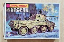 71-76 MATCHBOX 1/76th Scale SdKfz 234/2 PUMA Plastic Model Kit