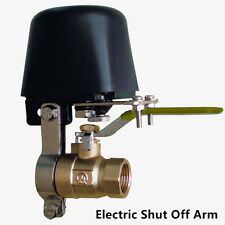 12V Shut Off Electric Arm Manipulator f Gas Water Alarm Security DN20 Ball Valve