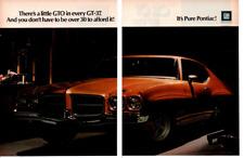 1971 PONTIAC GT-37 ~ ORIGINAL 2-PAGE PRINT AD
