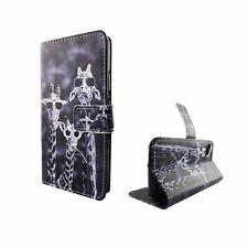 Wiko Sunny Protective Case Cover 3 Giraffes Pouch Case Armor Protection Glass 9H