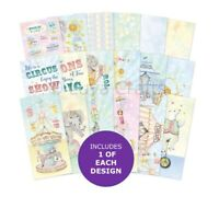 Hunkydory Animal Circus Adorable Scorable DL Paper Pad - Sample Pack 18 Papers