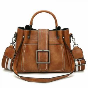 Women's Vintage Handbag Tote Leather Shoulder Bags Boho Crossbody Purse Satchel