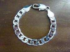Gourmette bracelet en plaqué argent, mixte NEUVE. Largeur 1cm.