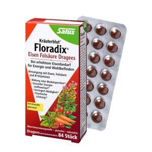 Floradix Eisen-Folsäure-Dragees 84 Stück 47g (21,26€ per 100g)