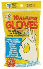 Clear All-Purpose Disposable Flexible Latex Gloves Cleaning Gardening Painting