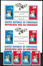 CAMEROON SOUVENIR SHEET + IMPERF + STAMPS #694-695A (NH) FROM 1981