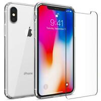 Slim Transparent Hülle + Panzer Glasfolie iPhone X XS Max XR Klar Silikon Case