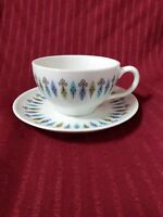 Tea or Coffee Flat Cup & Saucer SYRACUSE China NORDIC Carefree True Mid Cen Mod