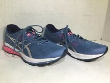 Asics Womens Size 8.5 EU 40 GT-1000 8 Blue Athletic Running Shoes ZD-541