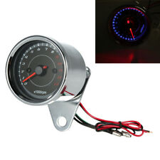 12V Universal LED Motorcycle Tachometer 13000 RPM Pointer 60mm for Honda Suzuki