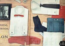 Publicité Advertising 097 1958  chemise homme Nylon Nylfrance Rodiaceta (2p)