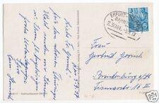 Bahnpostbeleg, Erfurt - Themar, 5.9.57
