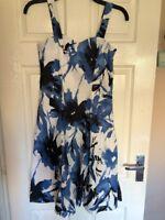 M&co 8 Lined Floral Summer Dress 100% Cotton Tea Dress Vintage Look
