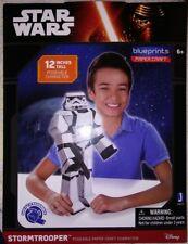 "NEW Star Wars Blueprints Paper Craft 12 "" Stormtrooper Jazwares"