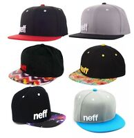 NEW Neff Daily Grey Gray & Cyan Space Floral Aztec Snapback Cap Hat