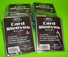 1000 TRADING CARD SLEEVES FOR STANDARD CARDS, SOFT POLY, 2-MIL 2-5/8 X3-5/8