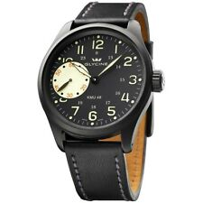 GLYCINE Watch 3905.99AT-LB90 Men's KMU 48 Small-Second Leather Limited Edition