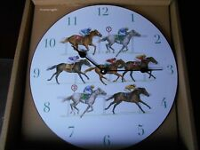 Wonderful large Kitchen Office Wall Clock Horse Racing by Sue Wingate Made in UK